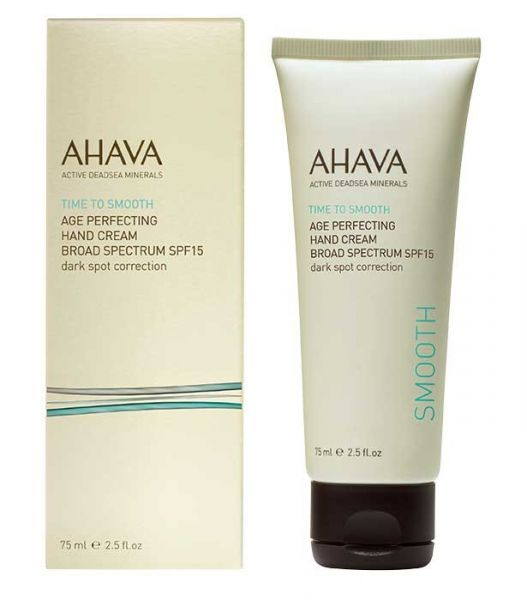 AHAVA Jauninantis rankų kremas, 75ml. AGE PERFECTING HAND CREAM BROAD SPECTRUM SPF15