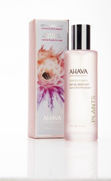 AHAVA DRY OIL BODY MIST, 100ml. Purškiamas aliejus Kaktusas ir Rožinis pipiras
