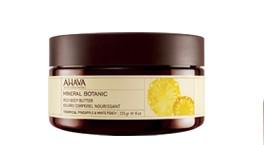Mineral Botanic Body butter, 235g. Kūno sviestas Ananasas ir Baltasis persikas