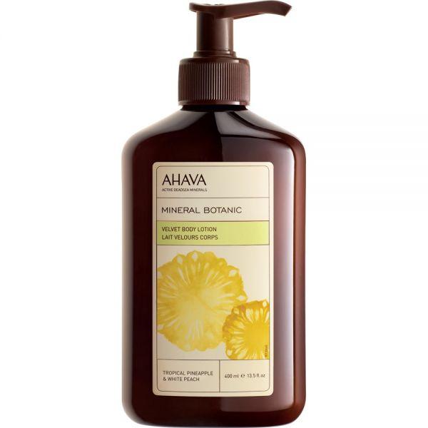AHAVA Mineral Botanic Kūno losjonas Ananasas ir Baltasis persikas 400ml. Body Lotion