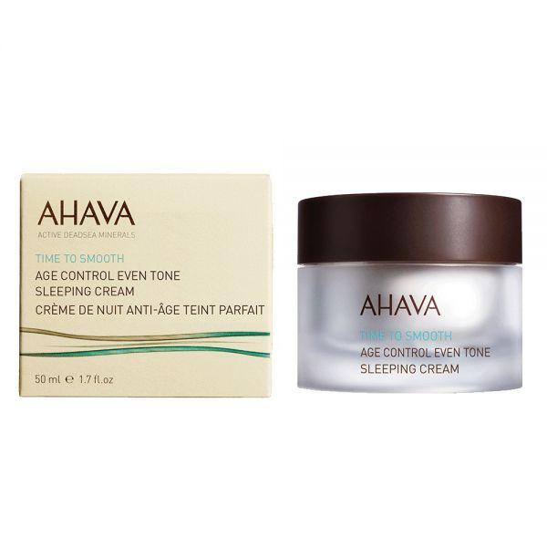 AHAVA Age control Even Tone sleeping cream, 50ml. Naktinis kremas suvienodinantis odos atspalvį