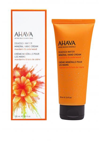 AHAVA Mineralinis rankų kremas Mandarinas ir kedras, 100ml. Mineral Hand cream Mandarin and Cedarwood