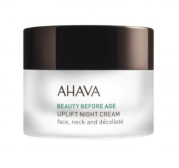 AHAVA BEAUTY BEFORE AGE Uplift Niight cream, 50ml. Pakeliantis odą naktinis veido, kaklo, dekolte kremas