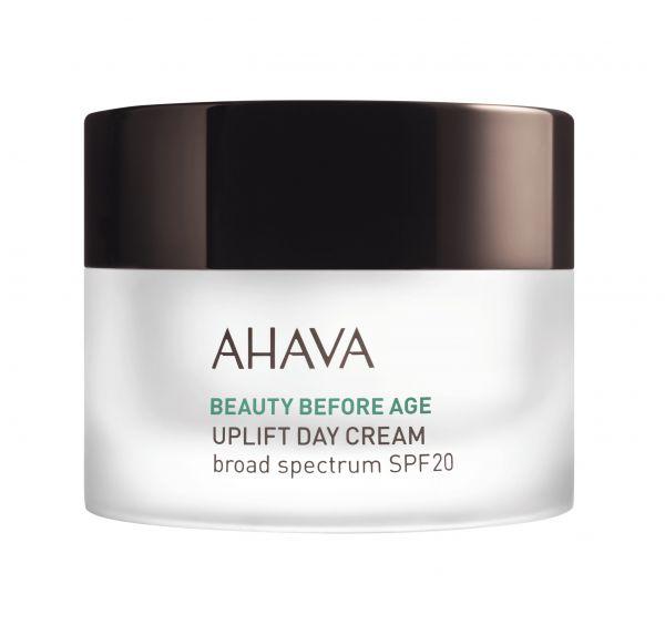 AHAVA BEAUTY BEFORE AGE  UPLIFT DAY CREAM pakeliantis glembančią odą, didinantis elastingumą dieninis kremas SPF 20, 50ml.