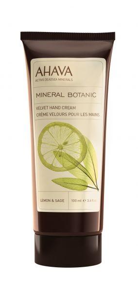 AHAVA MINERAL BOTANIC hand cream, 100ml. Aksominis rankų kremas Citrina ir sage