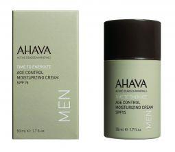 AHAVA Age control Moisturizing cream SPF 15, 50ml. Jauninantis, drėkinantis kremas vyrams SPF15